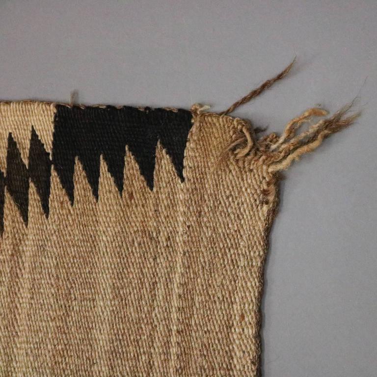 Antique Native American Indian Handwoven Eye Dazzler Wool