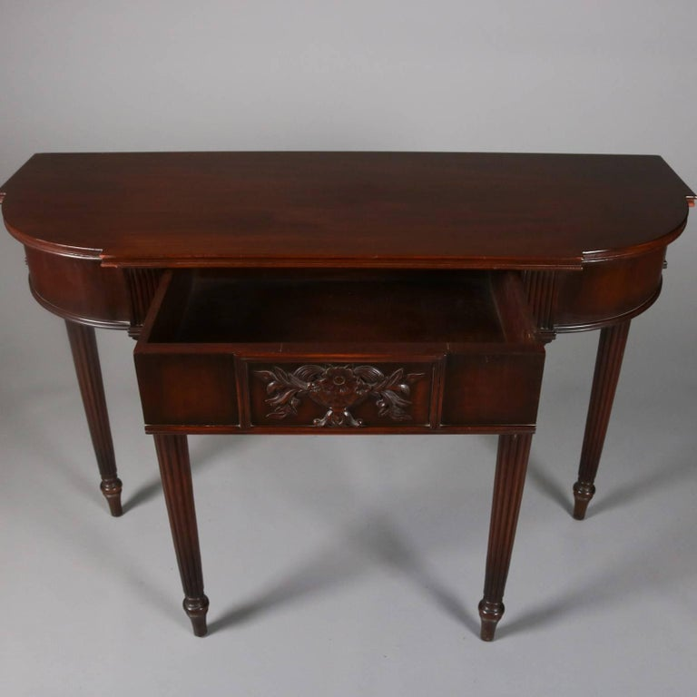 Carved Mahogany Console Table With Mirror By Elgin Simonds Co Circa 1900 For Sale At 1stdibs