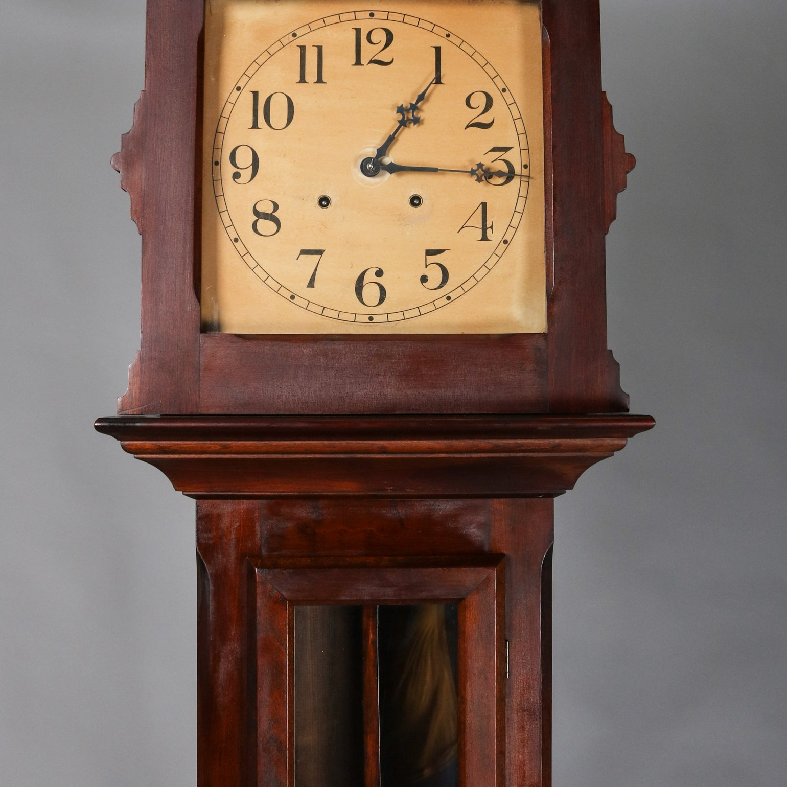 Antique Mahogany Ithaca Clock Co Grandfather Tall Case Clock Circa 1890 At 1stdibs