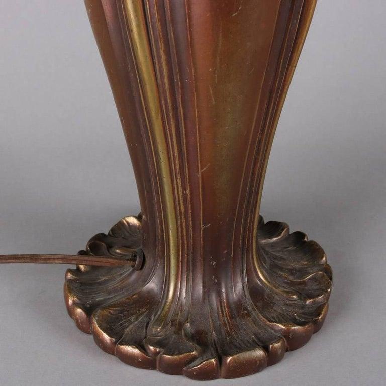 Antique Art Nouveau Bronze And Gilt Bradley And Hubbard