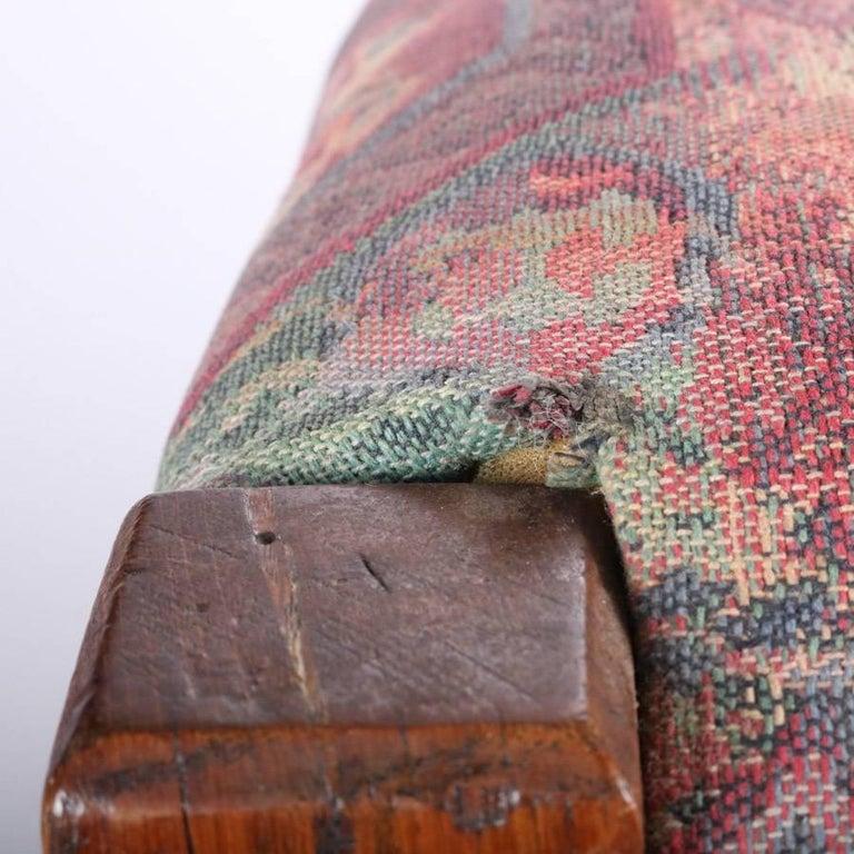 Antique Arts & Crafts Stickley Bros Mission Oak Upholstered Oak Footstool For Sale 3