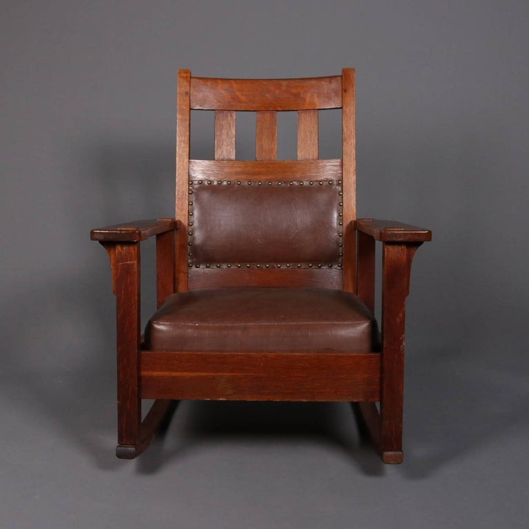 Antique Arts And Crafts Stickley Brothers Upholstered