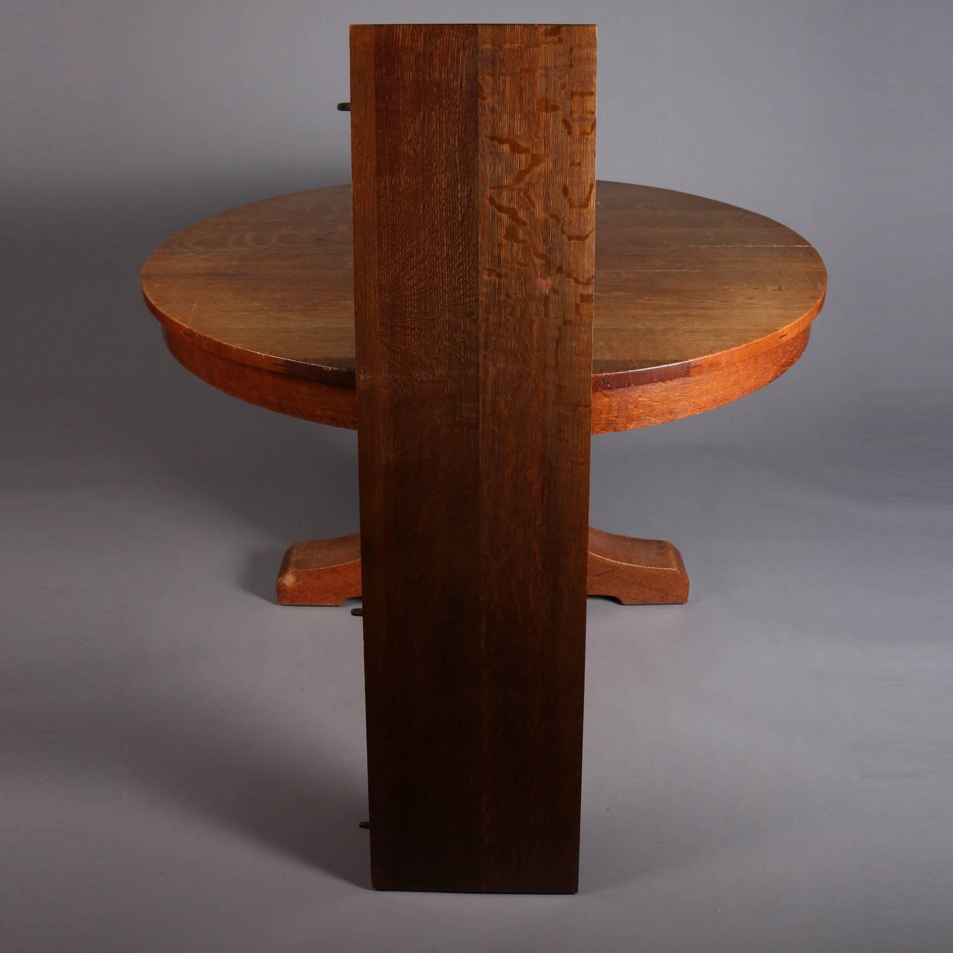 Bon Antique Arts U0026 Crafts Mission Oak Dining Table By L. U0026 J. G. Stickley  Features Four