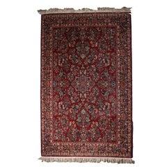 "Vintage Persian Style Karastan Red Sarouk Design #785, 5'9"" x 9', 20th Century"