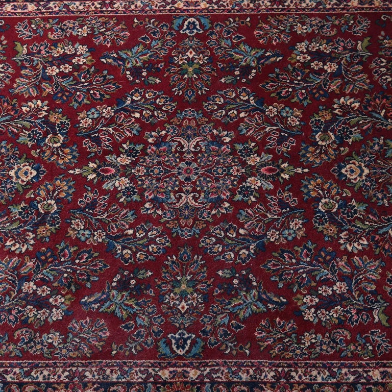 Vintage Persian Style Oriental Rug By Karastan Features Detached Fl Spray Pattern With Central Medallion On