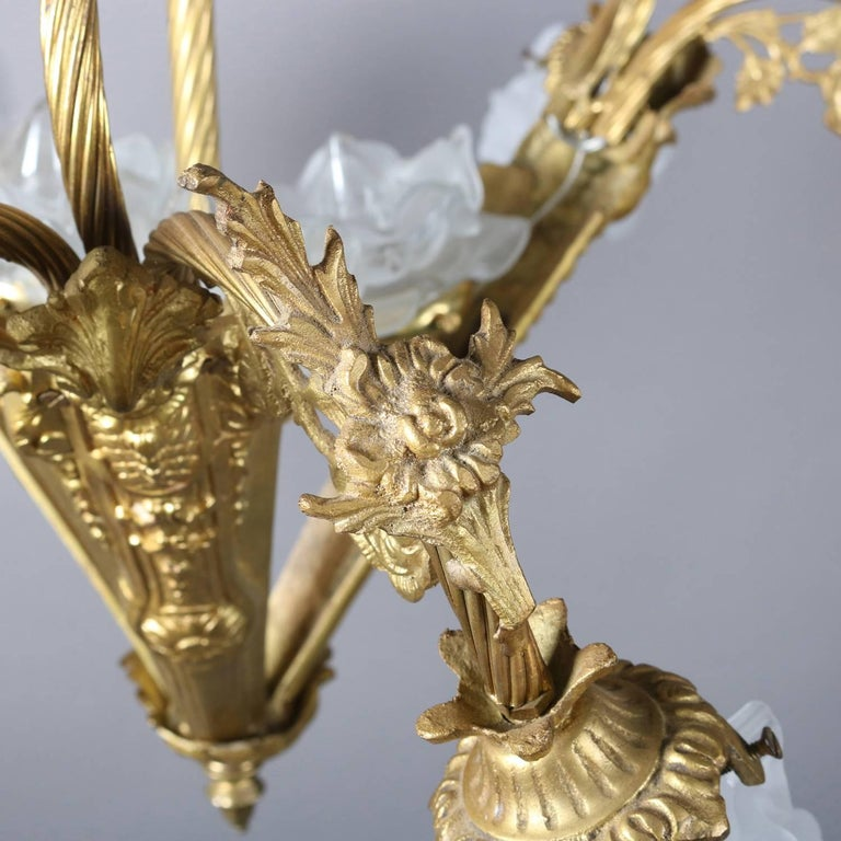 Vintage French Louis XIV Style Nine-Light Gilt Foliate Form Frame, 20th Century For Sale 2