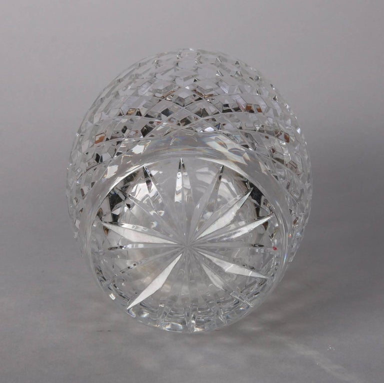 Antique Hawkes School Brilliant Cut Crystal Maple Leaf Vase, 20th Century For Sale 3