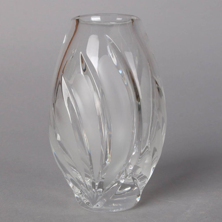 Frosted Irish Coventry Posy Cut Crystal Petite Vase, Waterford Marquis Collection For Sale