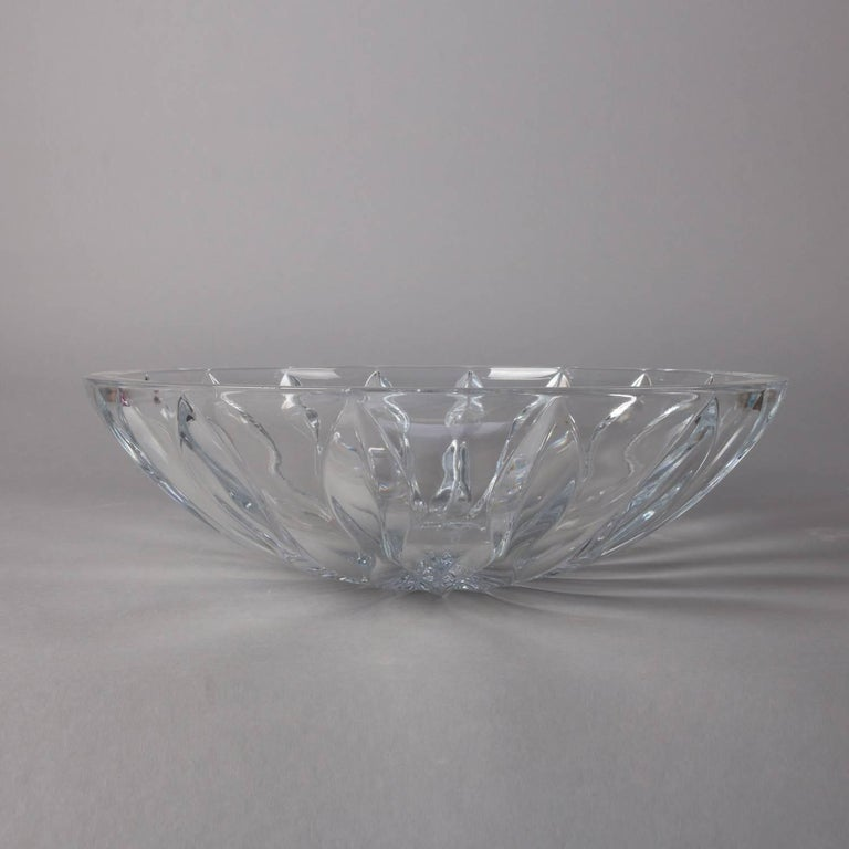 American Equinox Clear Crystal Centerpiece Bowl by Reed & Barton, 20th Century For Sale
