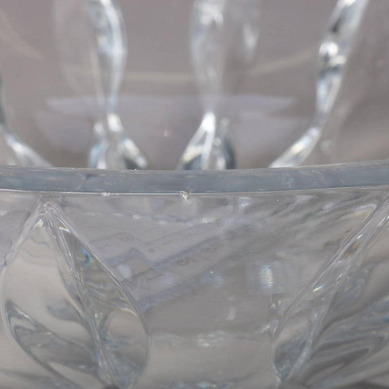 Equinox Clear Crystal Centerpiece Bowl by Reed & Barton, 20th Century For Sale 2