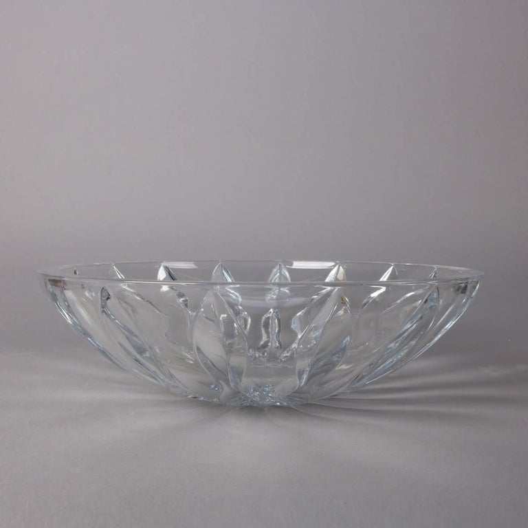 Equinox Clear Crystal Centerpiece Bowl by Reed & Barton, 20th Century For Sale 1
