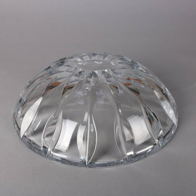 Equinox Clear Crystal Centerpiece Bowl by Reed & Barton, 20th Century For Sale 3
