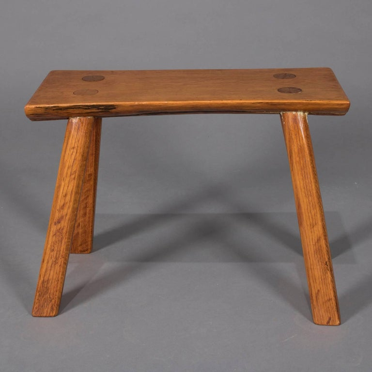 American Adirondack Old Hickory School Hand-Carved Mortise & Tenon Slab Wood Bench For Sale