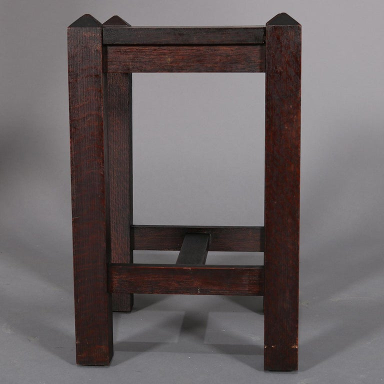 Antique Arts & Crafts Stickley School Mission Oak Plant Stand, circa 1910 For Sale 3