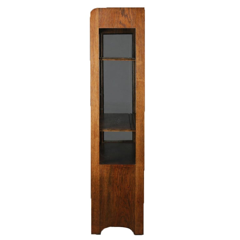 Arts and Crafts Antique Arts & Crafts Stickley School Mission Oak Two-Door China Cabinet For Sale