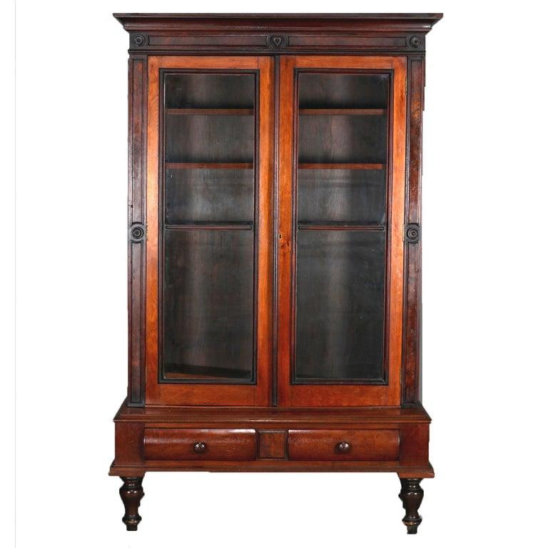 Antique eastlake mahogany two door bookcase circa 1910 for Eastlake storage
