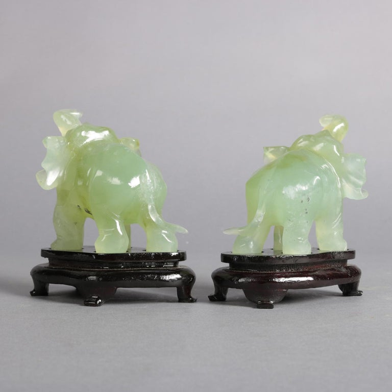 Pair of Chinese Carved Jade