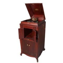 Antique Victor Victrola Oak Case Floor Model Phonograph, VV-XVI 16584B