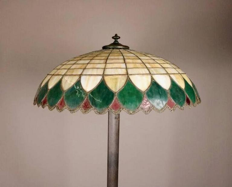 Arts And Crafts Antique Wilkinson School Bronze Lamp And