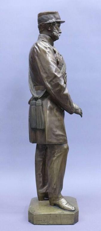 Thomas Fowke 1865 Civil War Era Monumental Bronze Statue