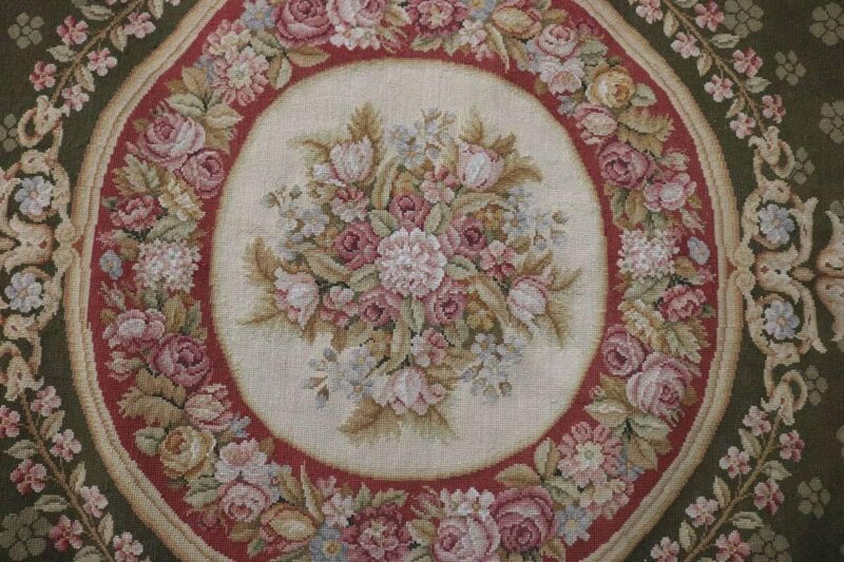 Vintage French Aubusson Style Tapestry Carpet Circa 1950