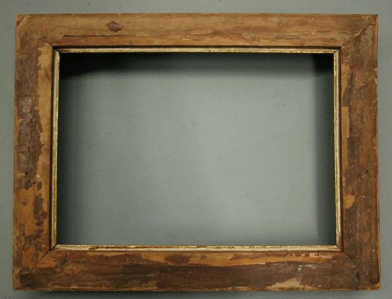 Antique Ornate First Finish Gold Gilt Gesso On Wood Frame