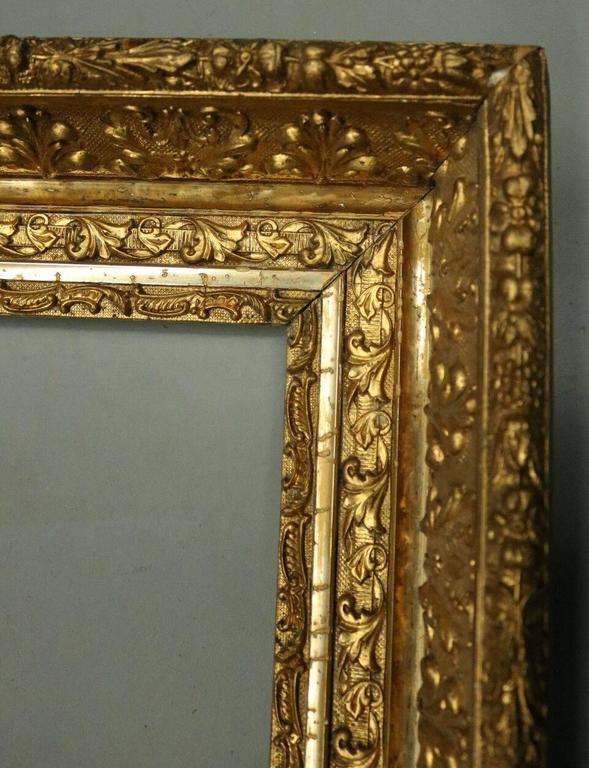 Antique Ornate First Finish Gold Gilt Gesso On Wood Frame