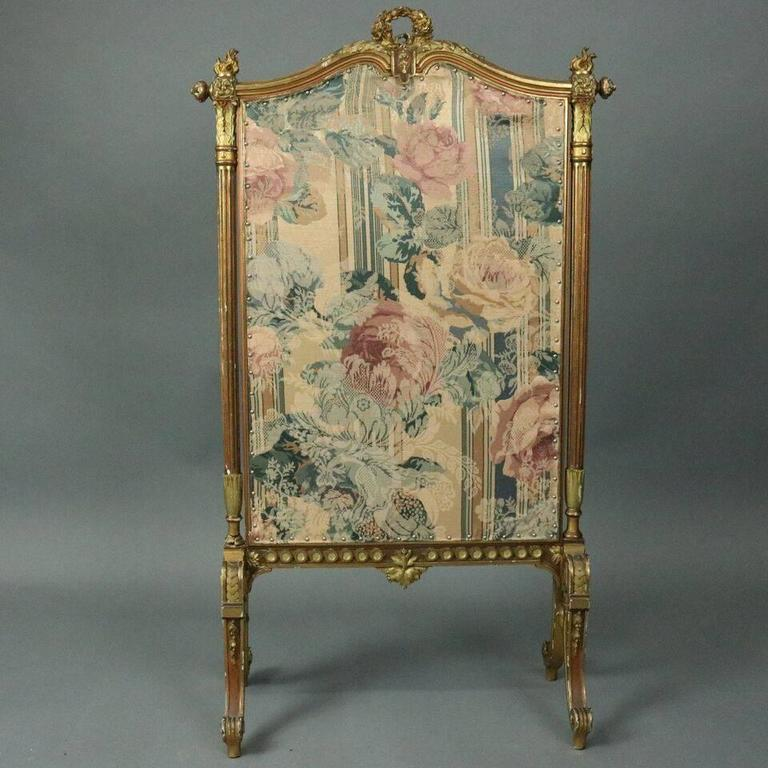 Antique French Louis Xiv Gold Gilt And Tapestry Fire Screen Circa 1880 At 1stdibs