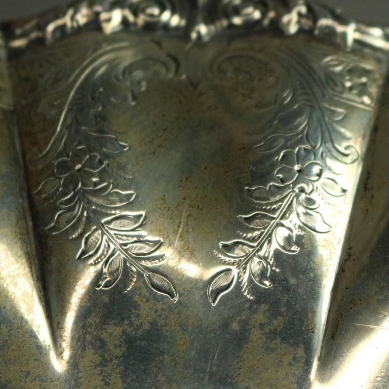 19th Century Antique Sterling Silver the Frank Herschede Co. Compote, circa 1880 For Sale