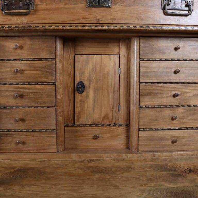 Antique Biedermeier Inlaid Drop Front Secretary, 19th Century For Sale 2