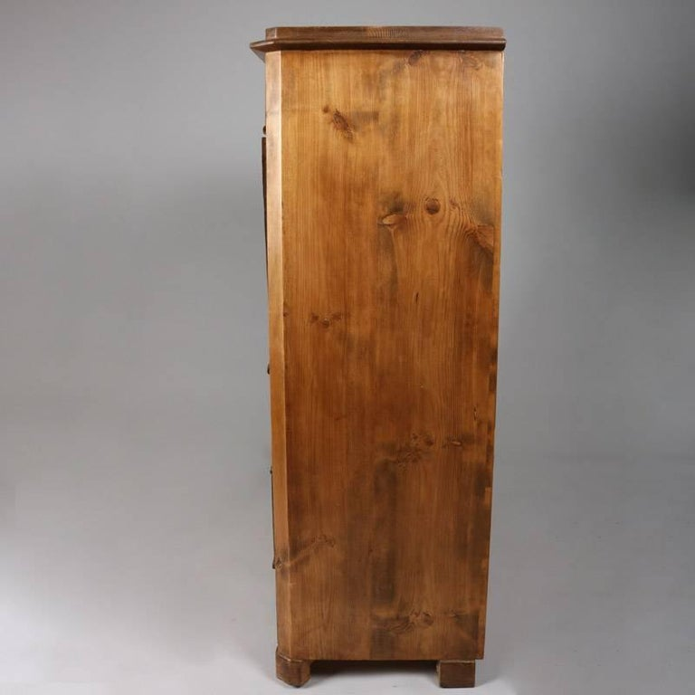 Antique Biedermeier Inlaid Drop Front Secretary, 19th Century In Good Condition For Sale In Big Flats, NY