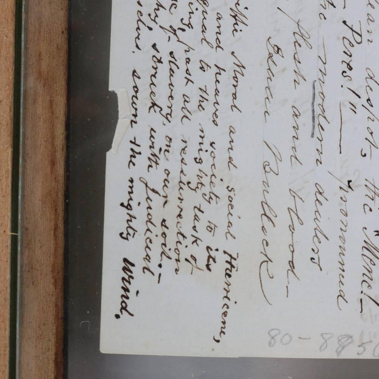 Collection of Antique Civil War Letters in Dual Sided Frame, 19th Century 10