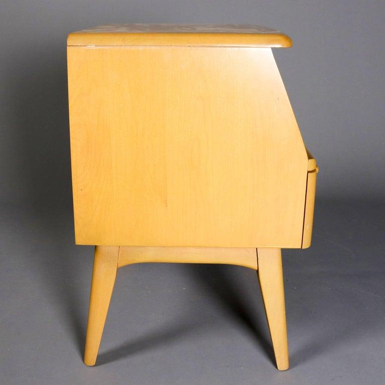 Heywood Wakefield Mid Century Coffee Table End Tables: Pair Of Mid-Century Modern Heywood Wakefield Single Drawer