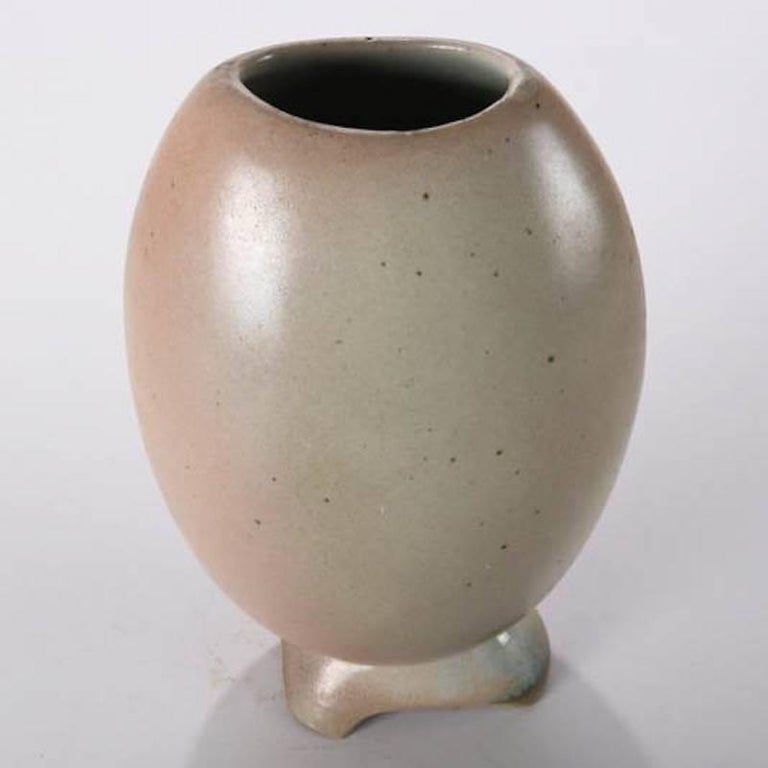 20th Century Mid-Century Modern Hand-Thrown Art Pottery Futuristic Form Vase For Sale
