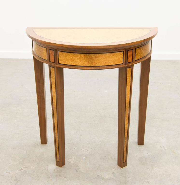 david linley half moon demilune side table for sale at 1stdibs. Black Bedroom Furniture Sets. Home Design Ideas