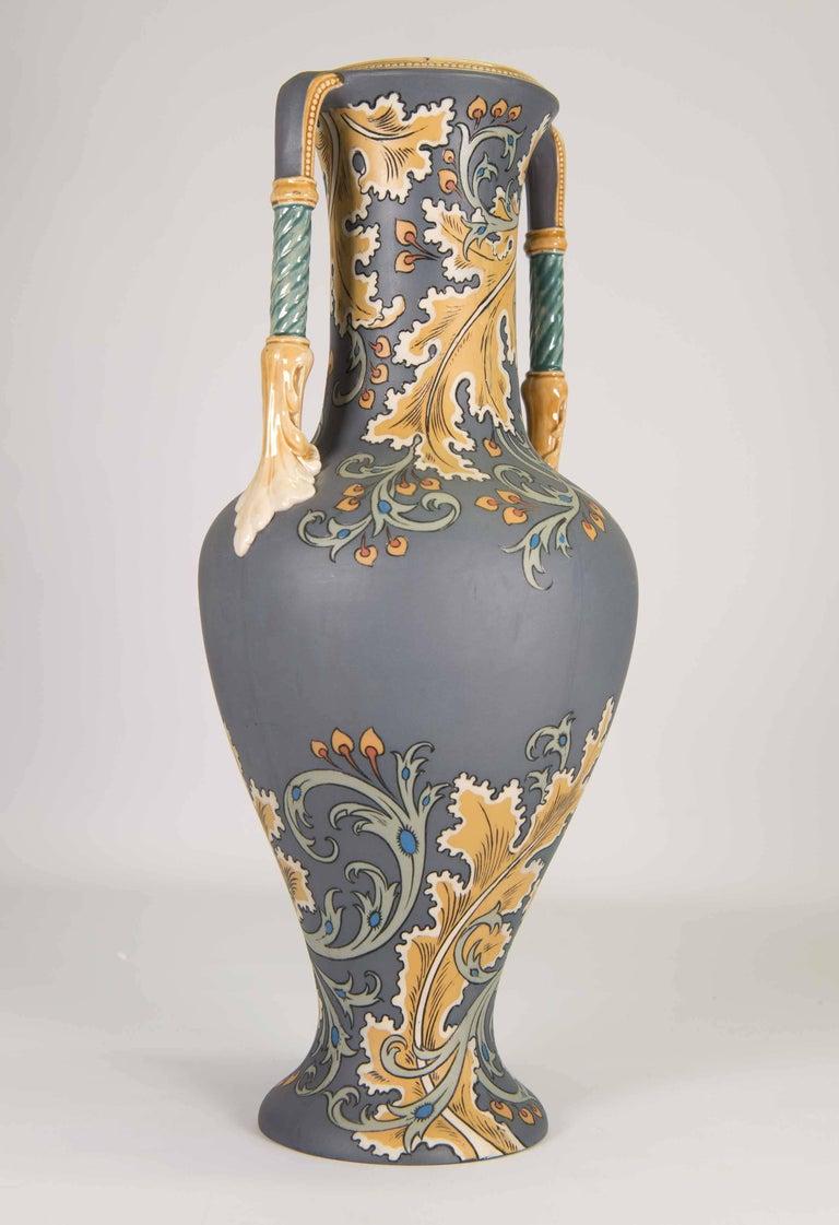 Mettlach art nouveau vase with floral decor circa 1900 for Art nouveau decoration ameublement