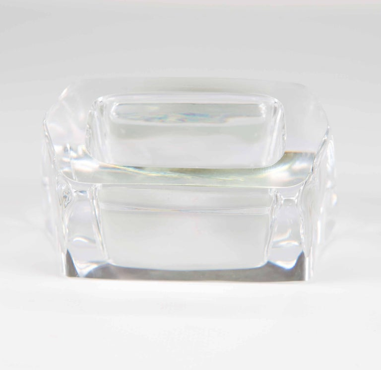 Business card holder in crystal made by daum france at 1stdibs business card holder in crystal made by daum france in excellent condition for sale in colourmoves