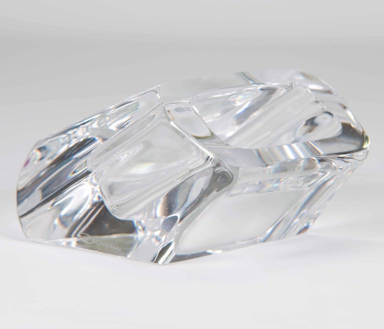 Business Card Holder in Crystal Made by Daum, France at 1stdibs