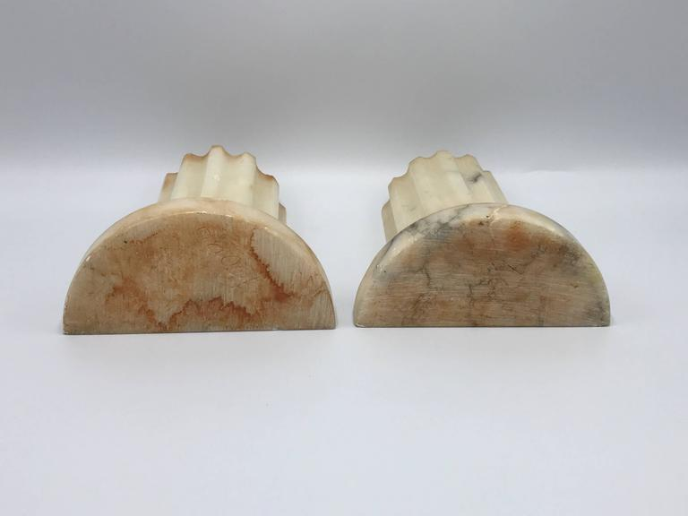 1920 S Alabaster Column Bookends Pair At 1stdibs