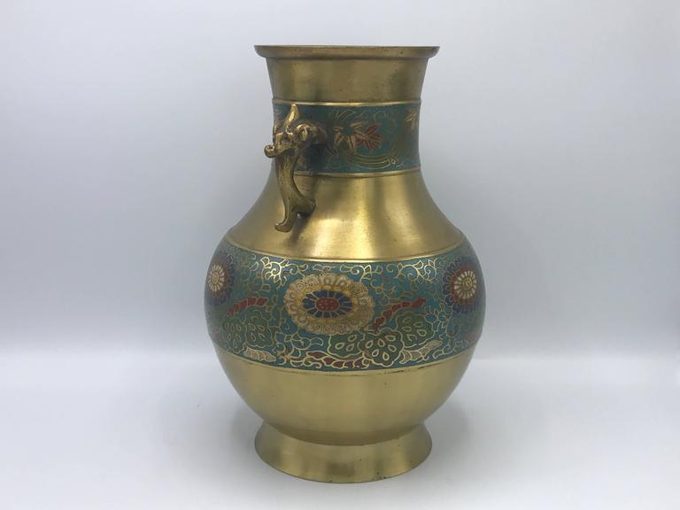 1940s Cloisonne Champleve Vase For Sale At 1stdibs