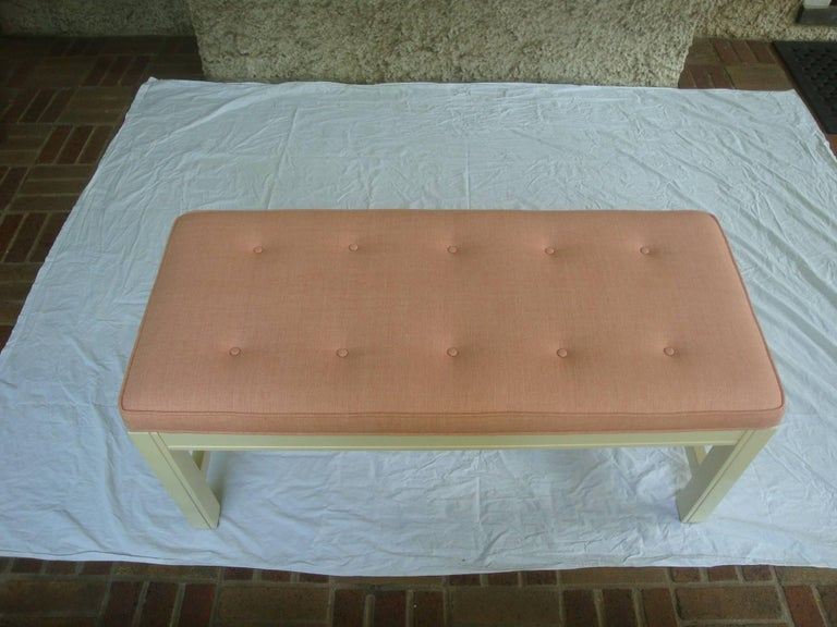 1960s Orange Parson Stool Benches with White Bases, Pair For Sale 1