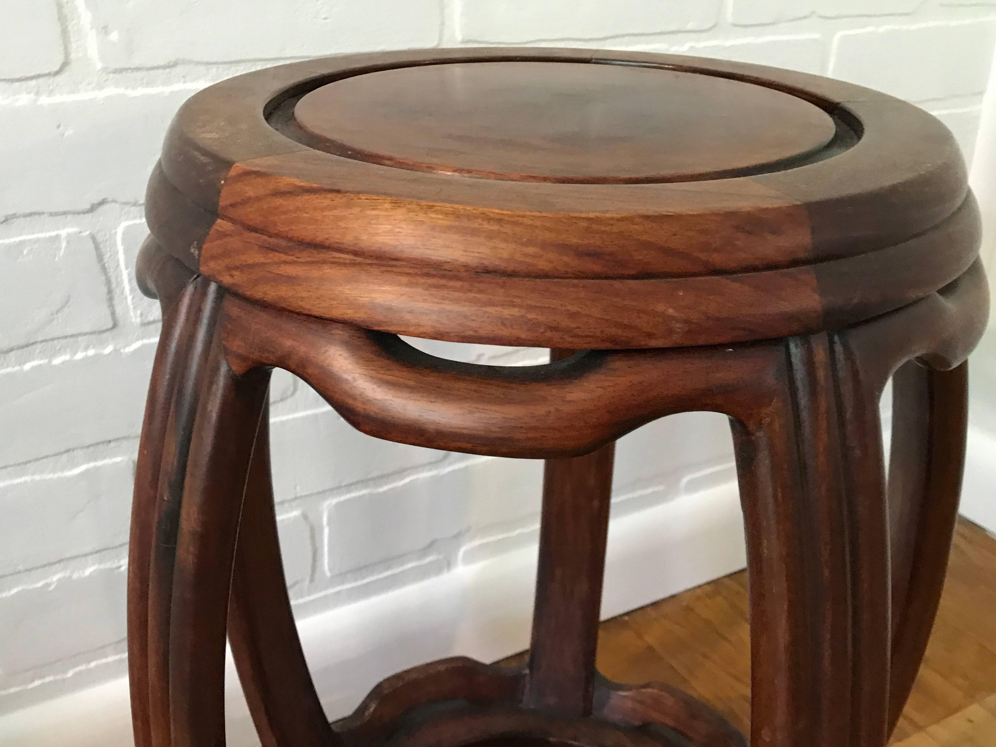 ... Wooden Garden Stool By 1950s Ming Style Wooden Garden Stool For Sale At  1stdibs ...