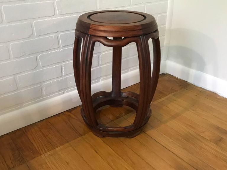 Outstanding 1950S Ming Style Wooden Garden Stool Unemploymentrelief Wooden Chair Designs For Living Room Unemploymentrelieforg