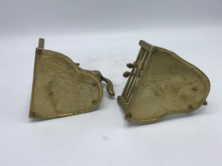 Brass 1970s Horse Bookends, Pair For Sale
