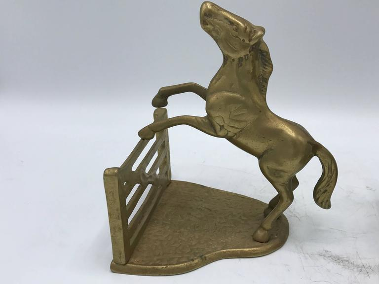 20th Century 1970s Horse Bookends, Pair For Sale