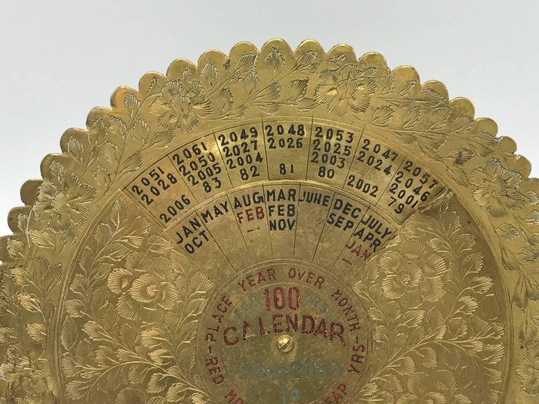 1960s Brass 100 Year Calendar At 1stdibs