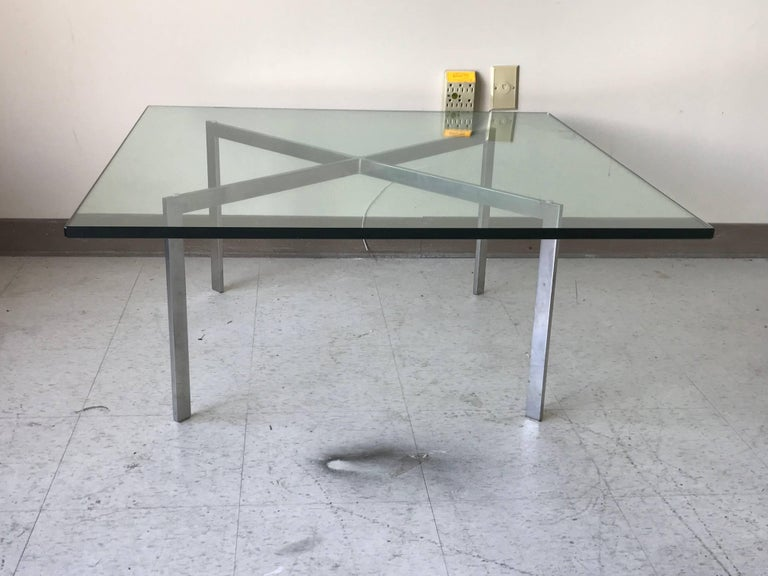 1970s knoll mies van der rohe barcelona coffee table with. Black Bedroom Furniture Sets. Home Design Ideas