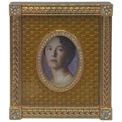 Fabergé Yellow Enamel Catherine Palace Picture Frame