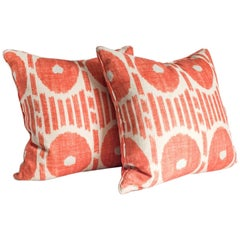 Thibaut Mesa Ikat Linen Pillows, Pair