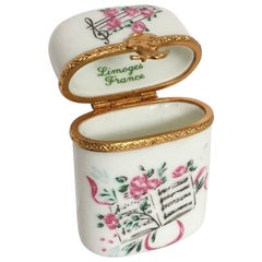 French Limoges Floral Pill Box